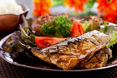 Grilled Saba Royalty Free Stock Images