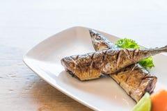 Grilled saba steak Royalty Free Stock Image