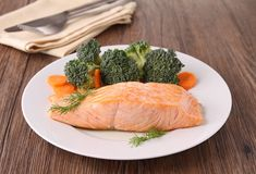 Grilled salmon Stock Photos