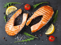 Free Grilled Salmon And Spices Royalty Free Stock Photos - 54278808