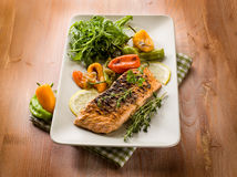 Grilled salmon Royalty Free Stock Image