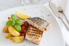Grilled salmon filet Royalty Free Stock Images