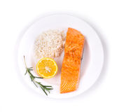 Grilled salmon filler Royalty Free Stock Images