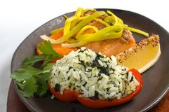Grilled Salmon Fillet Stock Images