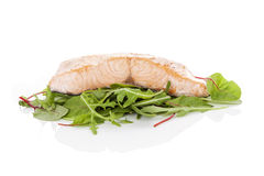 Grilled salmon fillet. Royalty Free Stock Image