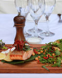 Grilled Salmon Fillet Royalty Free Stock Image