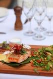 Grilled Salmon Fillet Stock Photos