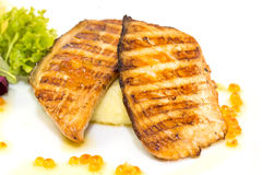 Grilled salmon fillet Royalty Free Stock Photo