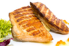 Grilled salmon fillet Stock Image