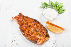 Grilled salmon fish Royalty Free Stock Images