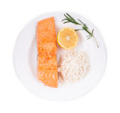 Grilled salmon fish fillet. Stock Images