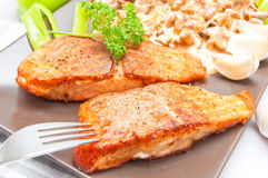 Grilled salmon food Royalty Free Stock Photos