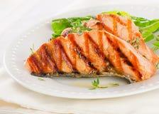 Grilled salmon Royalty Free Stock Photos