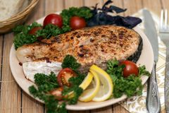Grilled red fish Royalty Free Stock Images