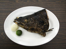 Grilled salmon head Stock Image
