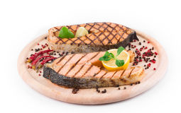 Grilled salmon Royalty Free Stock Images