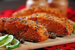 Grilled salmon. Royalty Free Stock Photo