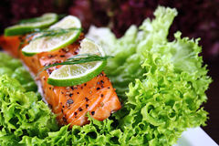 Grilled salmon. Royalty Free Stock Images