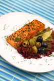 Grilled salmon. Stock Photography