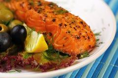 Grilled salmon. Stock Photos
