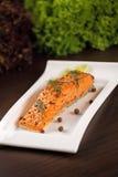 Grilled salmon. Stock Photo
