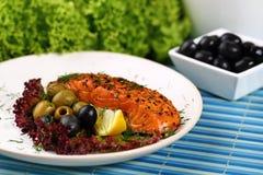Grilled salmon. Royalty Free Stock Photos