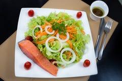 Grilled salmon salad Stock Image
