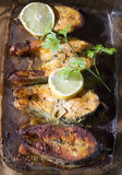 Grilled salmon Salmon Steak. With lemon Stock Images