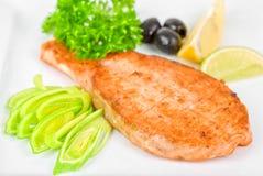 Grilled salmon steak Royalty Free Stock Image