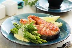 Grilled salmon steak Royalty Free Stock Photos