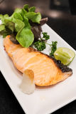 Grilled salmon steak japanse style Stock Images