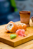 Grilled salmon sushi Royalty Free Stock Image