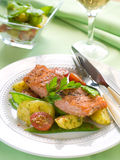 Grilled salmon with vegetable Stock Photos