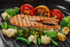 Grilled salmon Royalty Free Stock Photography