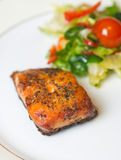 Grilled Salmon with vegetables Royalty Free Stock Images