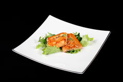 Grilled salmon with vegetables Stock Images
