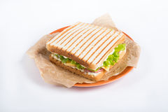 Grilled sandwhich on a plate Stock Photo