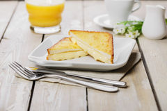 Grilled sandwich with mozzarella Royalty Free Stock Images