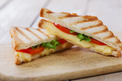 Grilled sandwich toast with tomato Royalty Free Stock Photo