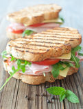Grilled sandwiches Stock Photos