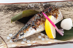 Grilled Sanma Stock Photo