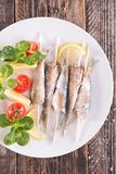 Grilled sardine Stock Photography