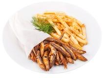 Grilled sardine fish Stock Image