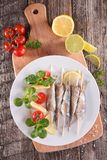 Grilled sardine Stock Photos