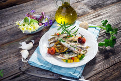 Grilled sardine Stock Image