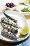 Grilled sardines Royalty Free Stock Photography