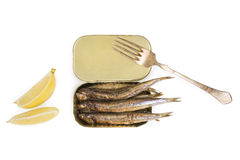 Grilled sardines. Royalty Free Stock Image