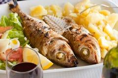 Grilled sardines Stock Photos