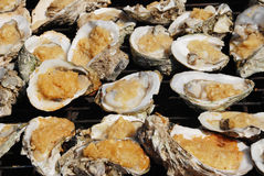 The grilled sauced oyster Royalty Free Stock Photo
