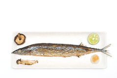 Grilled saury Royalty Free Stock Images
